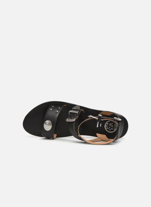 Sandales et nu-pieds White Sun Macarella Noir vue gauche