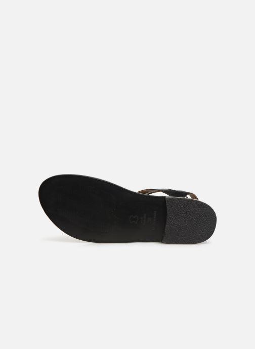 Sandales et nu-pieds White Sun Macarella Noir vue haut