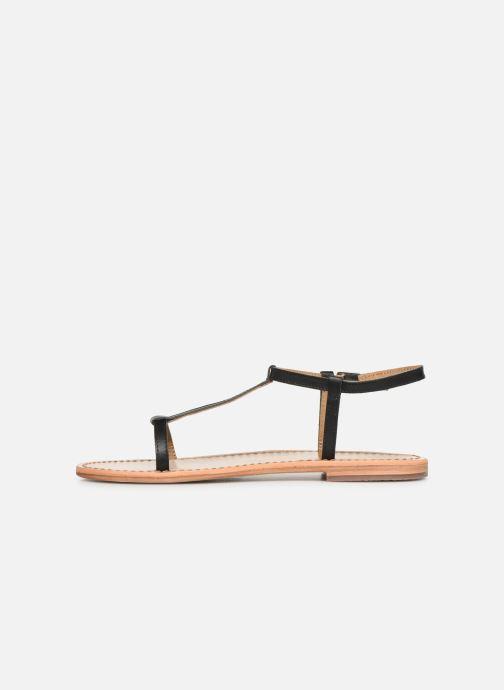 Sandales et nu-pieds White Sun Lagorn Noir vue face