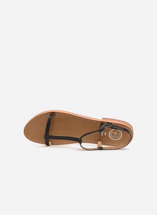 Sandales et nu-pieds White Sun Lagorn Noir vue gauche