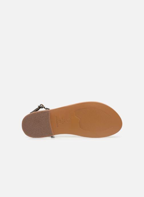 Sandales et nu-pieds White Sun Lagorn Noir vue haut