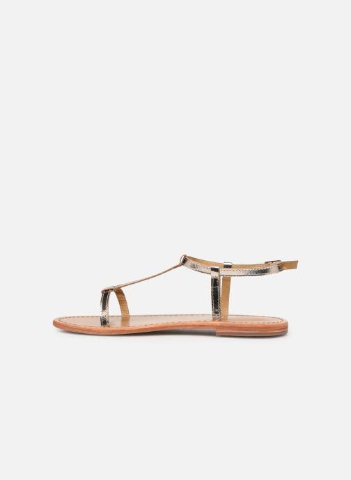 Sandales et nu-pieds White Sun Lagorn Or et bronze vue face