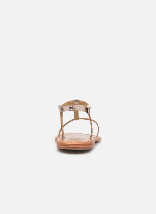 Sandales et nu-pieds White Sun Lagorn Or et bronze vue droite