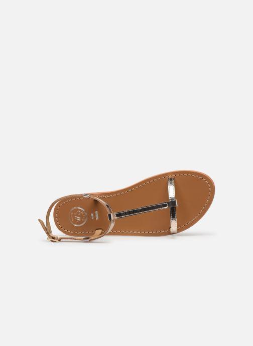 Sandales et nu-pieds White Sun Lagorn Or et bronze vue gauche