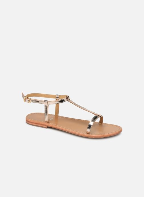 Sandals White Sun Lagorn Bronze and Gold detailed view/ Pair view