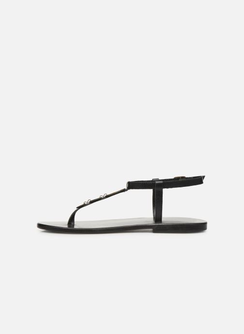 Sandals White Sun Cymatium Black front view