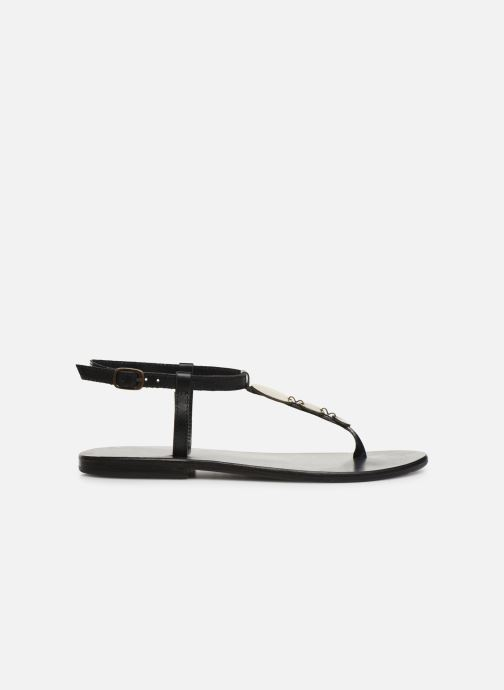 Sandals White Sun Cymatium Black back view