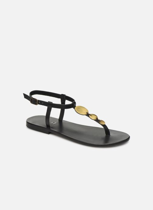 Sandals White Sun Cymatium Black detailed view/ Pair view