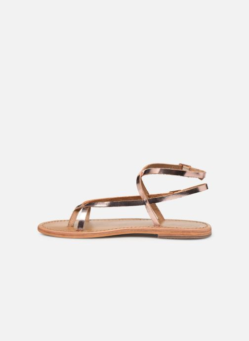 Sandals White Sun Ceara Pink front view