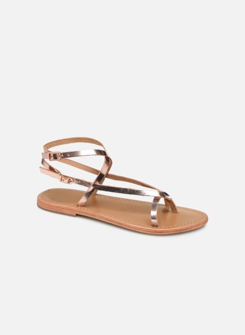Sandals White Sun Ceara Pink detailed view/ Pair view