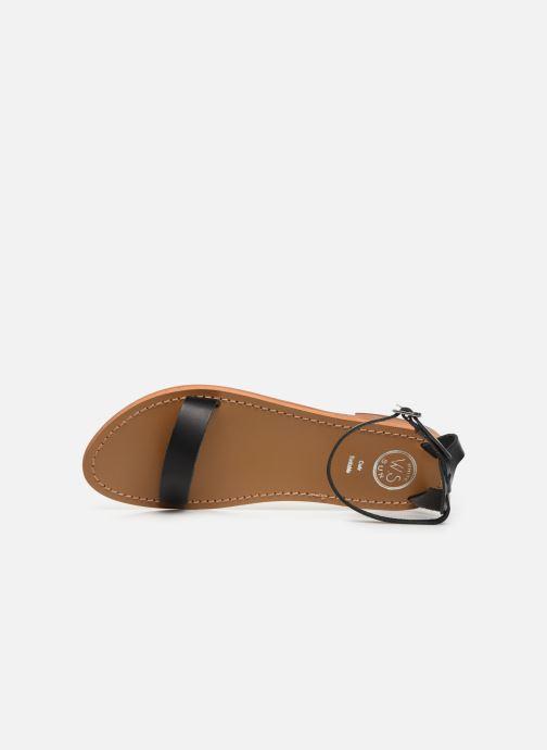 Sandali e scarpe aperte White Sun Cavaliers Nero immagine sinistra