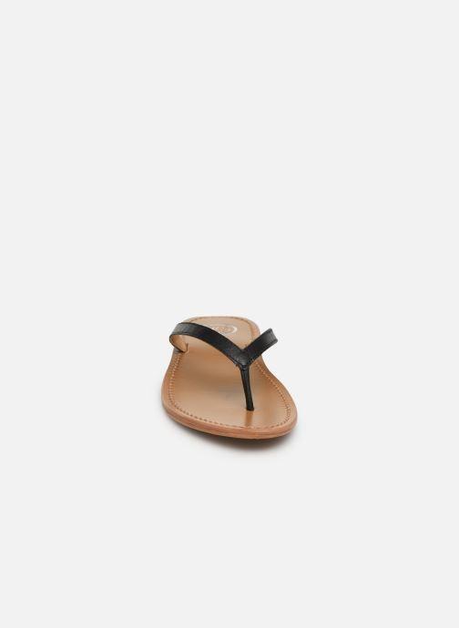Tongs White Sun Boavista Noir vue portées chaussures