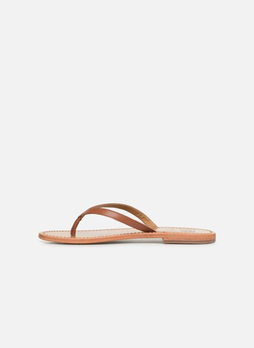 Flip flops White Sun Boavista Brown front view