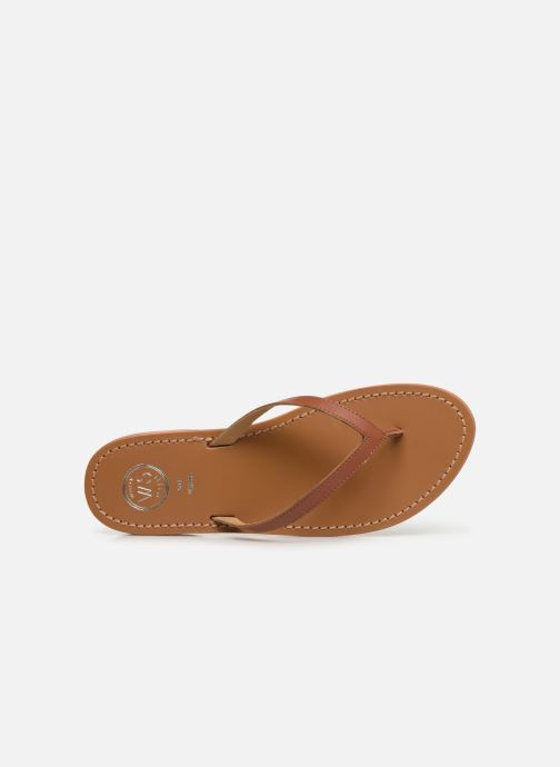 Flip flops White Sun Boavista Brown view from the left
