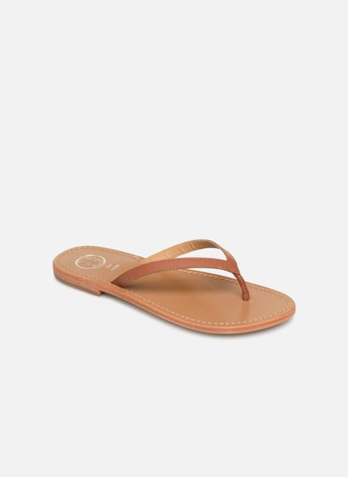 Flip flops White Sun Boavista Brown detailed view/ Pair view