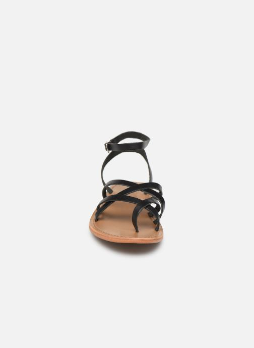 Sandals White Sun Babylonia Black model view