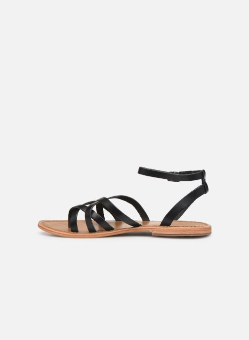 Sandals White Sun Babylonia Black front view