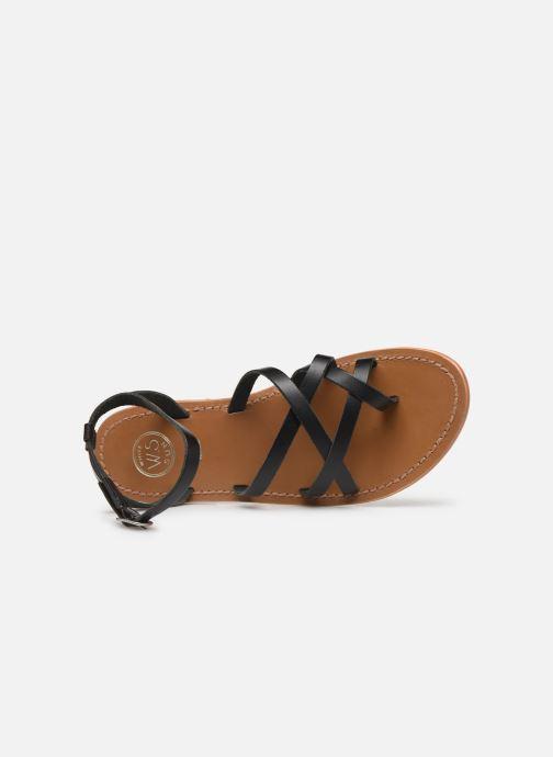 Sandales et nu-pieds White Sun Babylonia Noir vue gauche