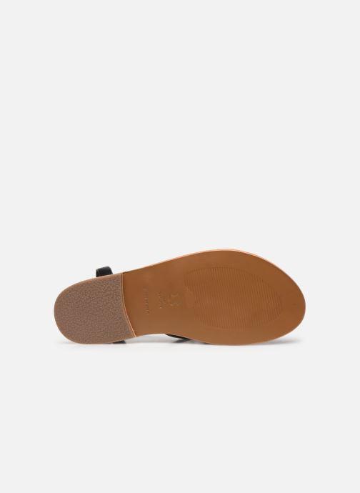 Sandales et nu-pieds White Sun Babylonia Noir vue haut