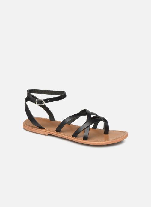 Sandales et nu-pieds White Sun Babylonia Noir vue détail/paire