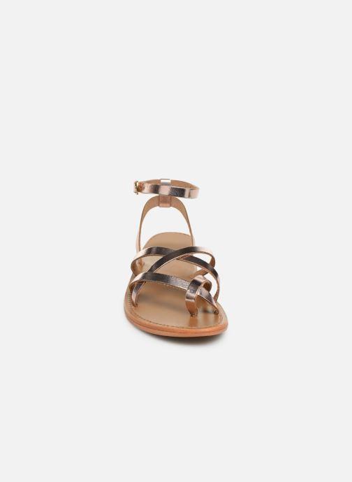 Sandales et nu-pieds White Sun Babylonia Rose vue portées chaussures