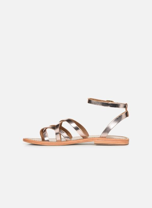 Sandals White Sun Babylonia Pink front view