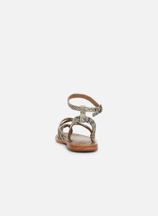 Sandales et nu-pieds White Sun Babylonia Gris vue droite
