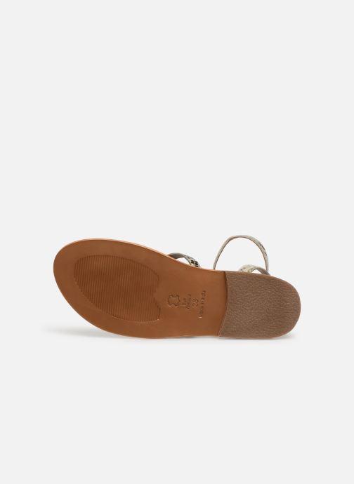 Sandales et nu-pieds White Sun Babylonia Gris vue haut