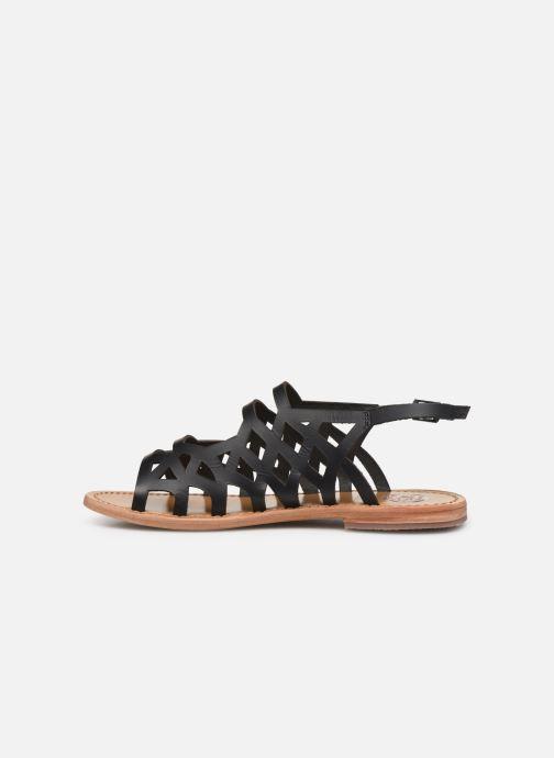 Sandals White Sun Aracati Black front view