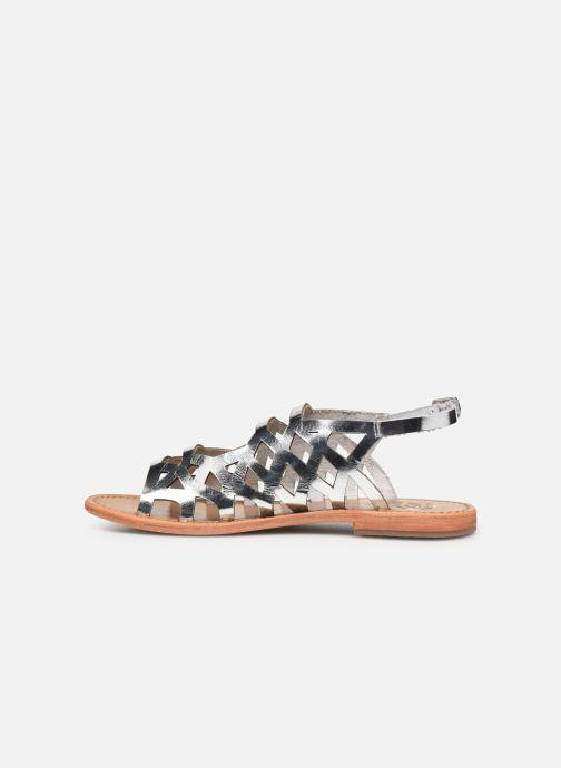 Sandales et nu-pieds White Sun Aracati Argent vue face