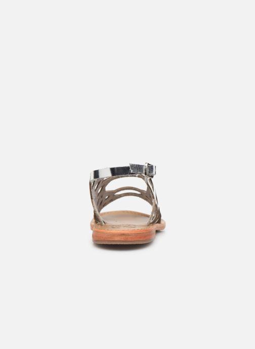 Sandales et nu-pieds White Sun Aracati Argent vue droite
