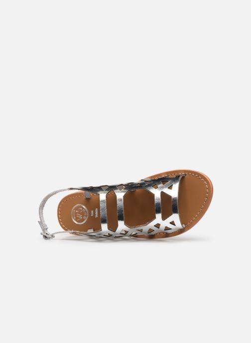 Sandales et nu-pieds White Sun Aracati Argent vue gauche