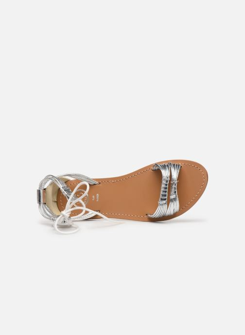 Sandals White Sun Aitu Silver view from the left