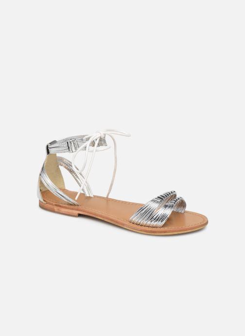 Sandals White Sun Aitu Silver detailed view/ Pair view
