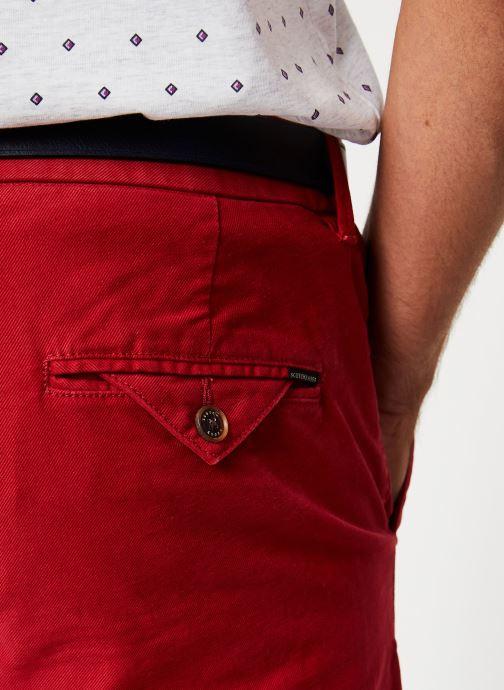 Vêtements Scotch & Soda STUART - Classic garment-dyed twill chino Bordeaux vue face