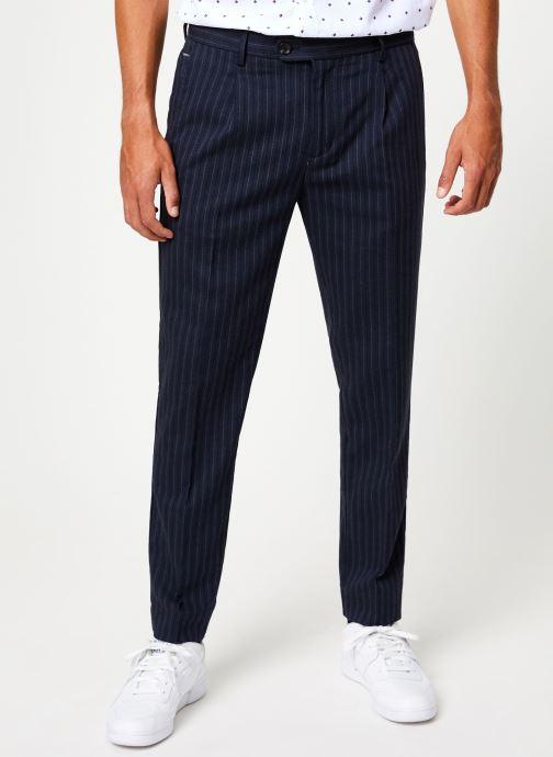 Vêtements Scotch & Soda BLAKE - Classic yarn-dyed chino Bleu vue détail/paire
