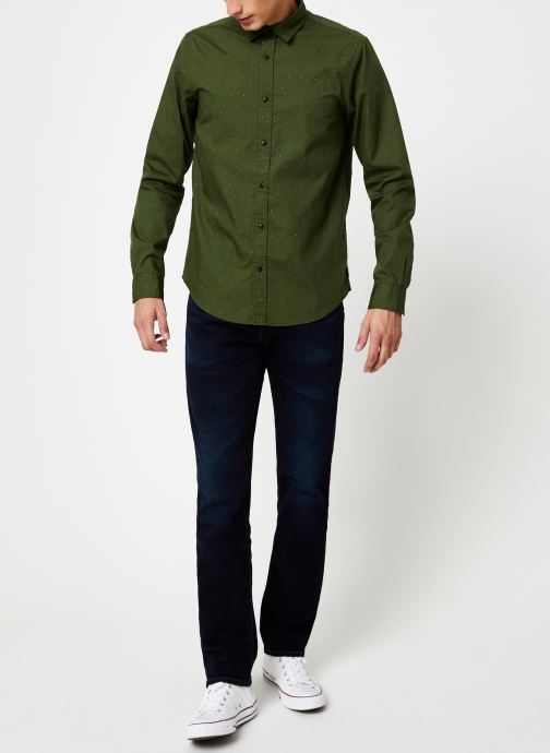 Vêtements Scotch & Soda REGULAR FIT - Classic all-over printed shirt Vert vue bas / vue portée sac