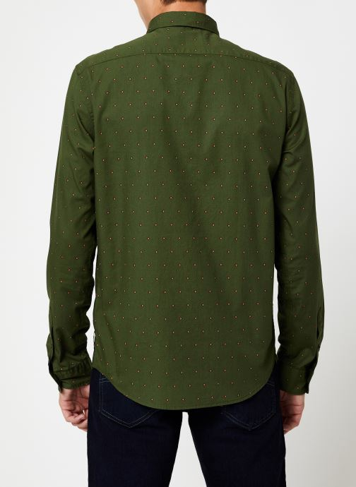 Vêtements Scotch & Soda REGULAR FIT - Classic all-over printed shirt Vert vue portées chaussures