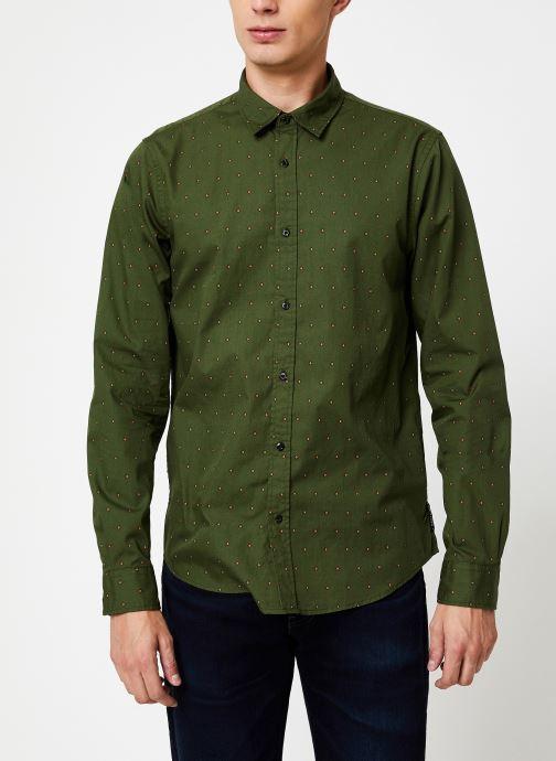 Vêtements Scotch & Soda REGULAR FIT - Classic all-over printed shirt Vert vue droite
