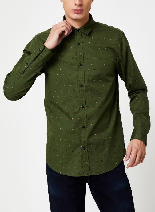Vêtements Scotch & Soda REGULAR FIT - Classic all-over printed shirt Vert vue détail/paire