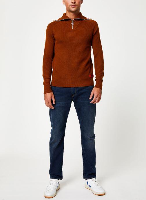 Vêtements Scotch & Soda Lightweight rib knit pullover with high zip-up collar Orange vue bas / vue portée sac