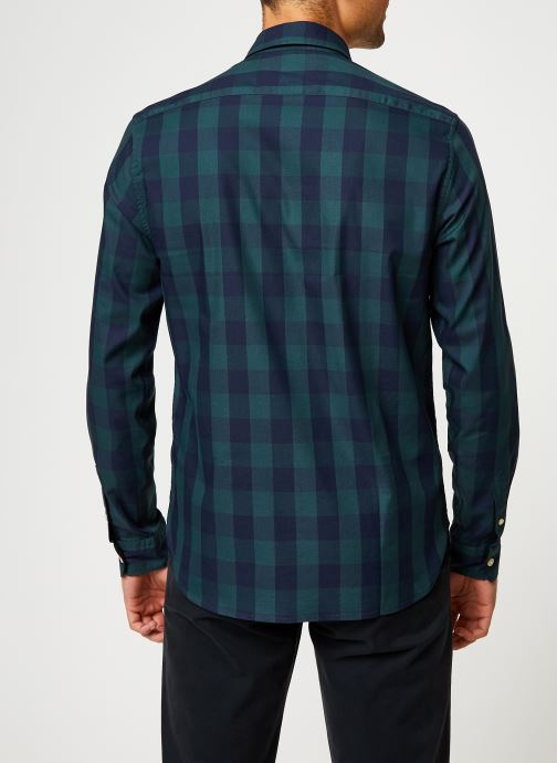 Vêtements Scotch & Soda REGULAR FIT - Classic BB check shirt Bleu vue portées chaussures