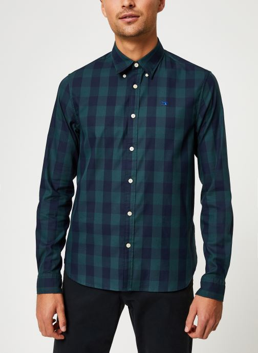 Vêtements Scotch & Soda REGULAR FIT - Classic BB check shirt Bleu vue détail/paire