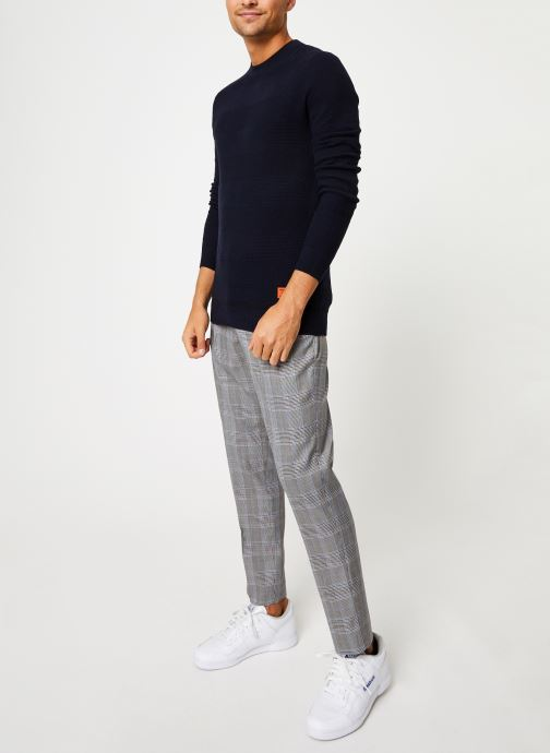Vêtements Scotch & Soda Classic crewneck pull in structured knit Bleu vue bas / vue portée sac