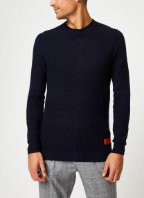 Pull - Classic crewneck pull in structured knit