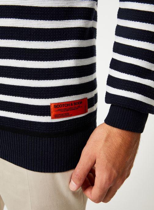 Vêtements Scotch & Soda Classic crewneck pull in structured knit Blanc vue face