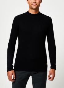 Vêtements Accessoires Rib knit crewneck pull with higher collar