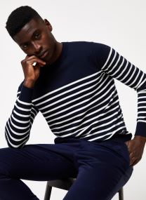 Pull - Striped crewneck pull in soft quality