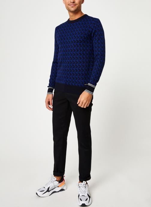 Vêtements Scotch & Soda Jacquard crewneck pull in multicolour pattern Bleu vue bas / vue portée sac