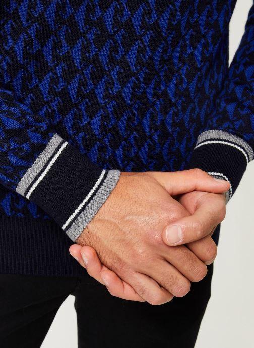 Vêtements Scotch & Soda Jacquard crewneck pull in multicolour pattern Bleu vue face
